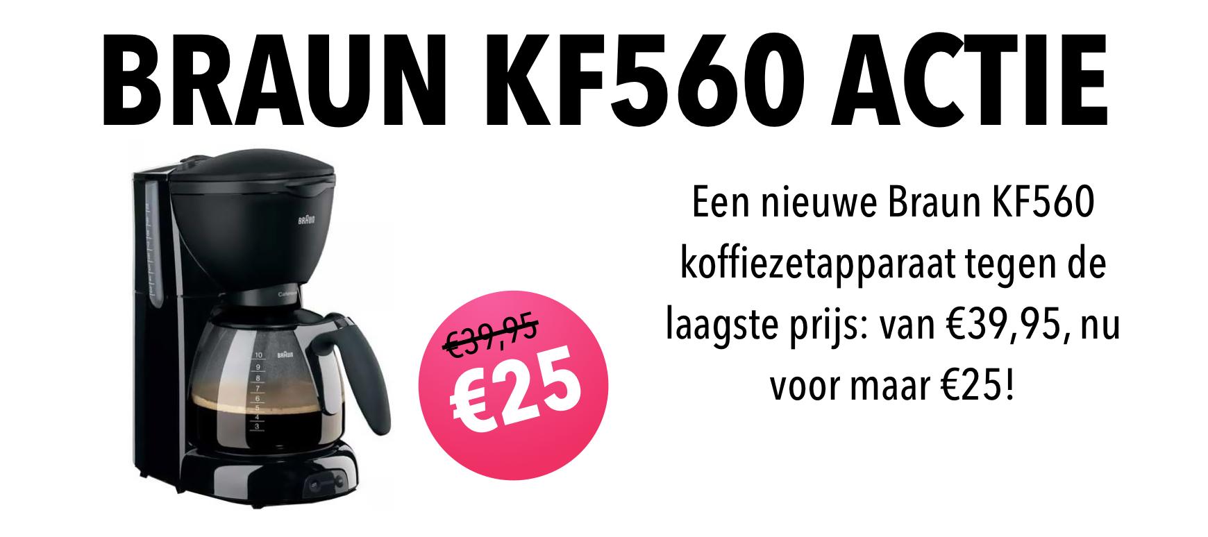 Braun KF560 actie